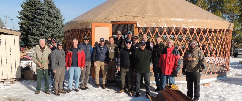 Ausblick volunteers build the Ski/Snowsports Yurt – Nov. 9, 2019